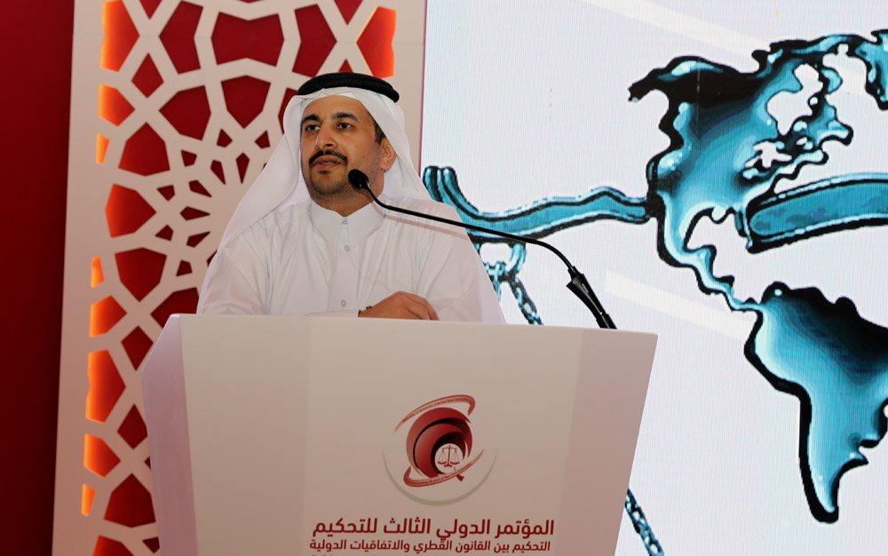 """م.الكواري يشارك في """"المؤتمر الدولي الثالث للتحكيم""""..ويوصي بضرورة نشر الوعي بمهمة الخبير"""